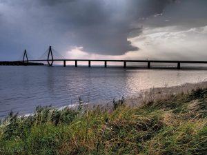 Farö Brücke an der Vogelflugöline