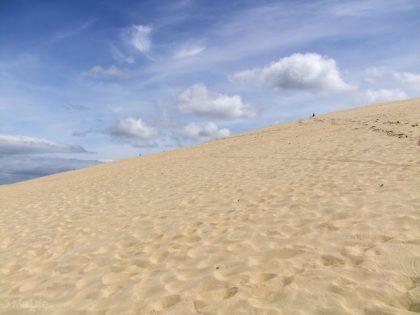 Viel Sand auf der Düne von Arcachon