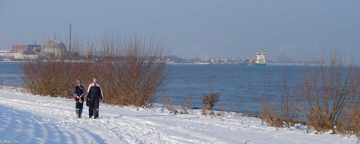 Silvester im Wohnmobil: Hamburg mit zu viel Schnee