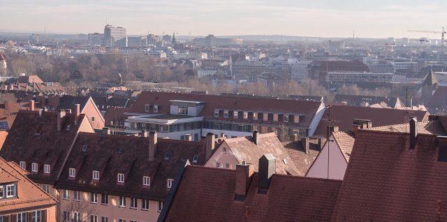Blick über Nürnberg