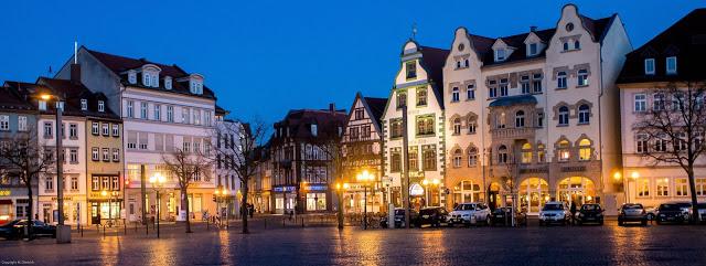 Erfurt bei Nacht