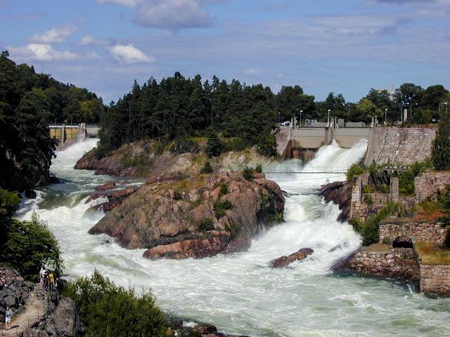 Wasserfall in Trollhättan