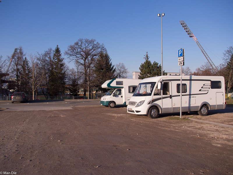 Erfurt, Parkplatz an der Thüringenhalle