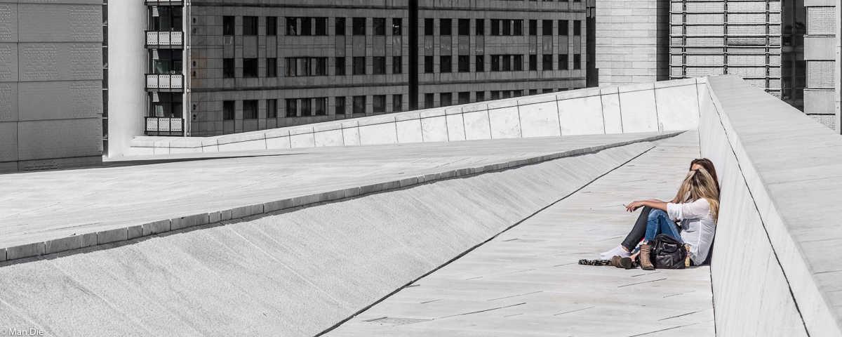 Einmal der Kunst auf das Dach steigen: Das Opernhaus in Oslo