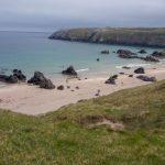 Durness (Highlands), ein Campingplatz mit einem schönen Strand