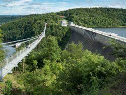 Titan-RT, die atemberaubende Hängebrücke an der Rappbodetalsperre  (Harz)