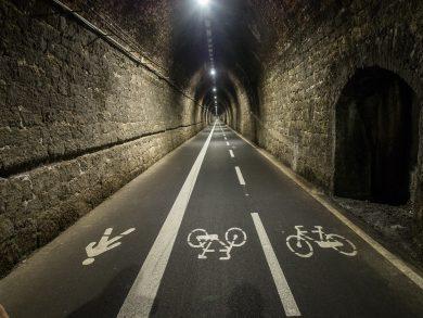 Der Radweg im Tunnel