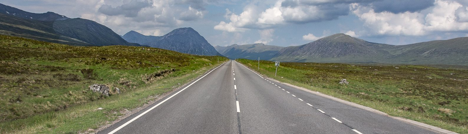 Viel Platz für das Wohnmobil: Highland in Schottland