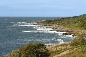 Sturm an der Westküste von Bornholm