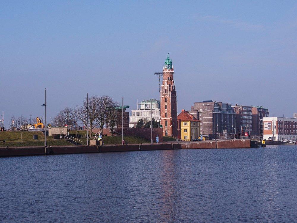 alter Leuchtturm in Bremerhaven