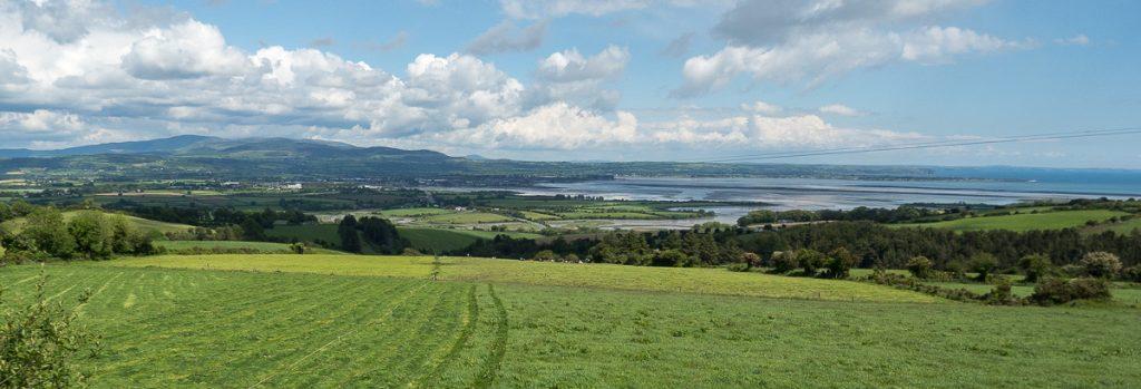 Aussicht auf die Landschaft an der irischen Ostküste