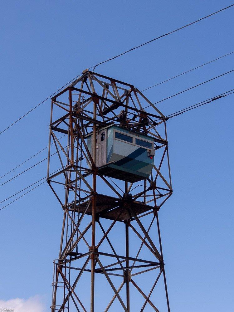 Dursey Cable Car Seilbahn Durchfahrt der Stütze