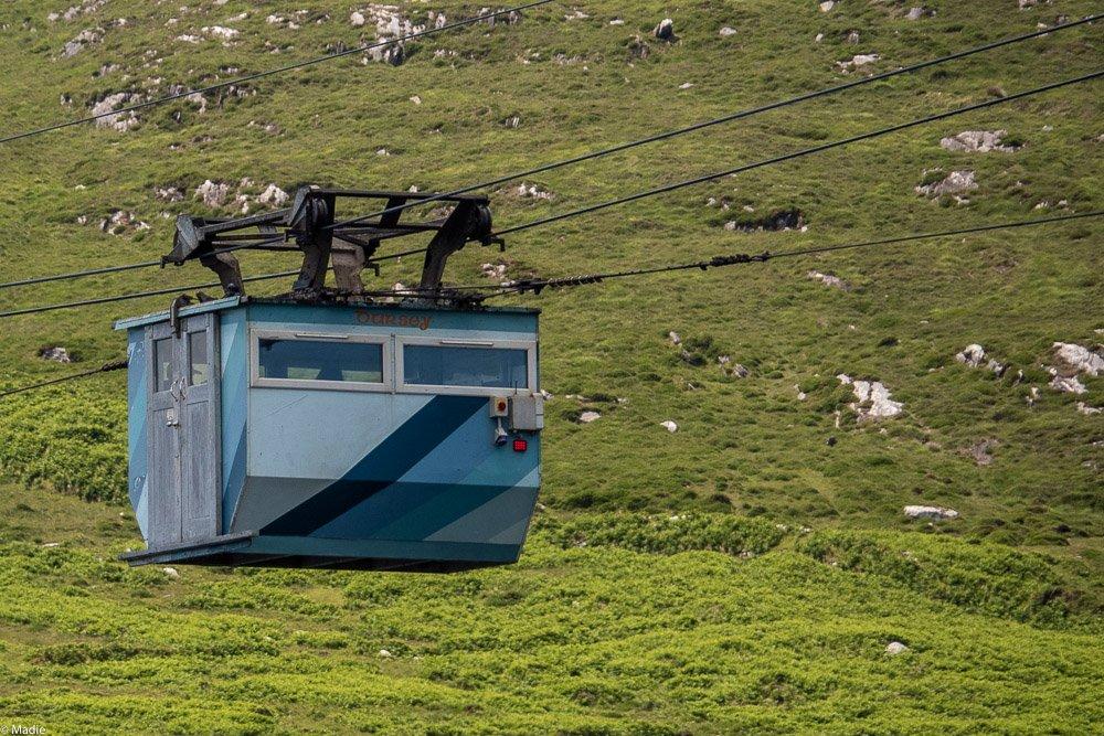 Dursey Cable Car Seilbahn die Kabine
