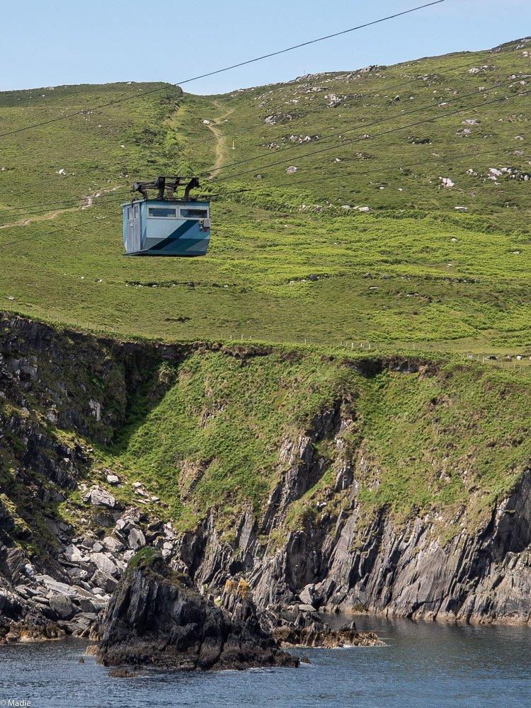 Dursey Cable Car Seilbahn auf der Fahrt