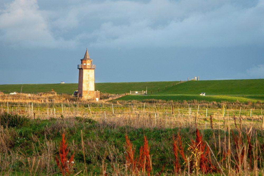 Dagebüll ehemaliger Leuchtturm im Abendlicht