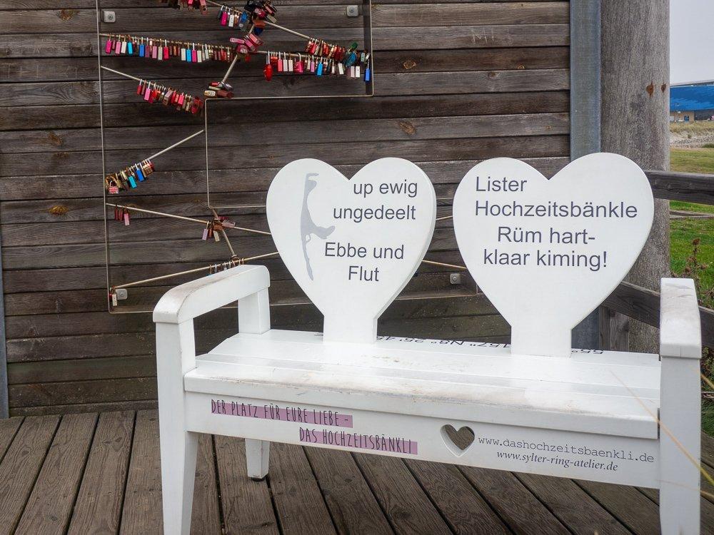 List auf Sylt,Keine Brücke, aber Liebesschlösser