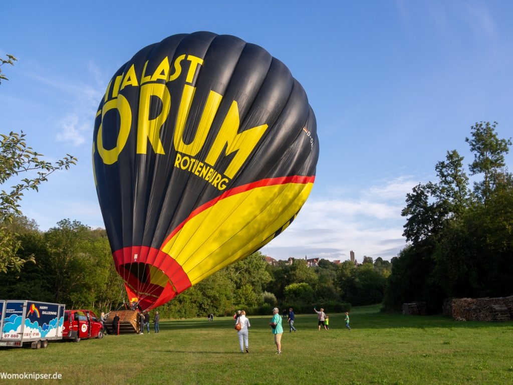 Ballonstart im Taubertal Rothenburg