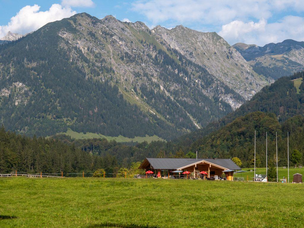Oberstdorf an der Skiflugschanze