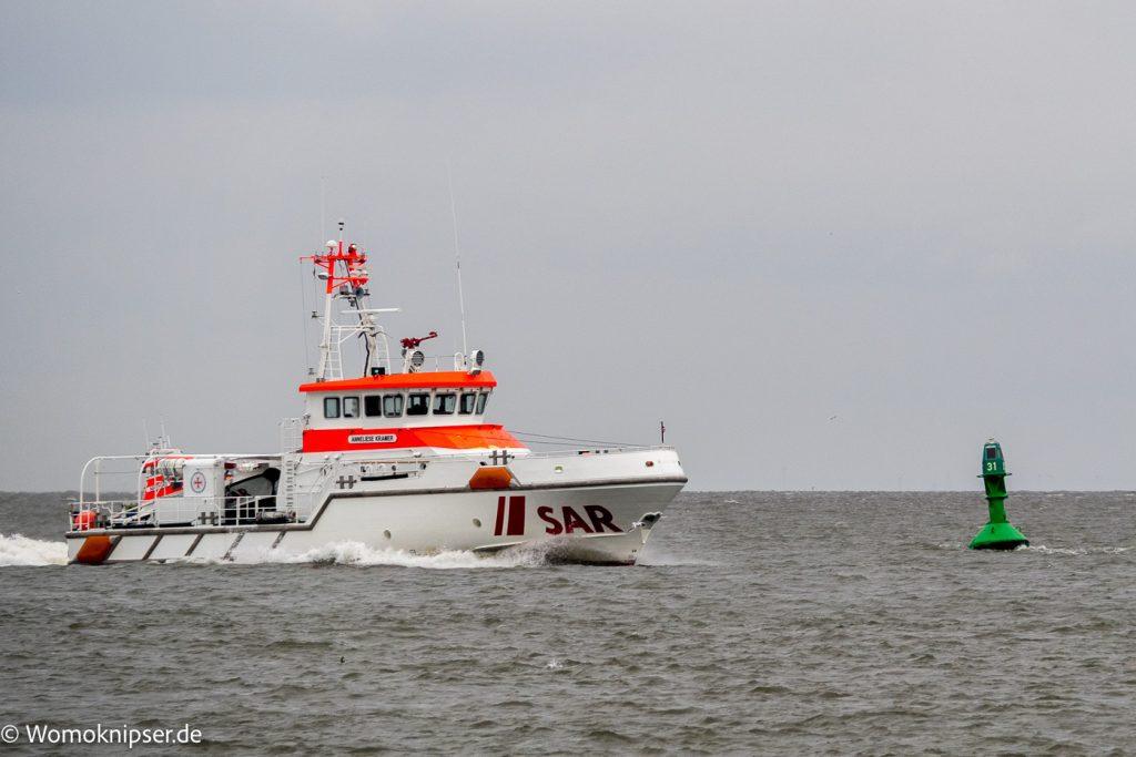 Cuxhaven an der Kugelbake Seenotrettung im Einsatz?