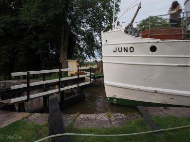 Kanalschiff Juno auf dem Götakanal