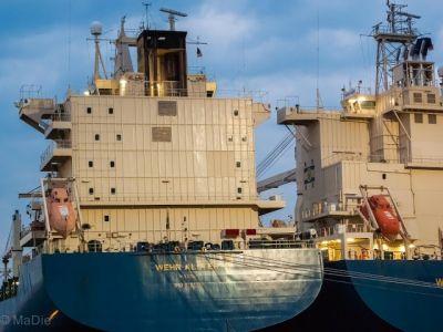 Im Hafen von Rostock