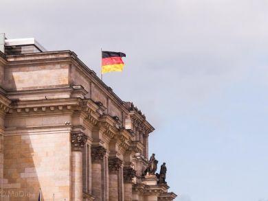 Im Regierungsviertel Berlin