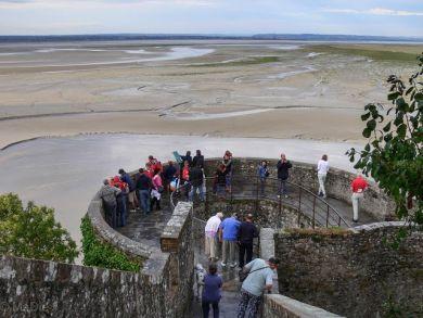 Bastion mit Blick aufs Wattenmeer Mont St Michel