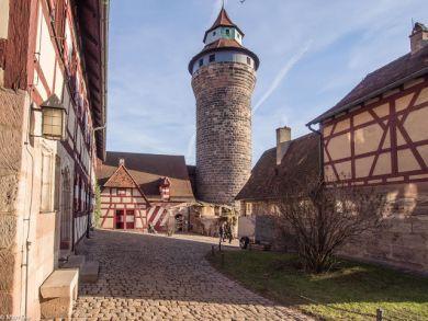 Nürnberg Burg mit Sinwellturm