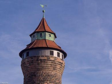 Nürnberg Burg Spitze des Sinwellturms