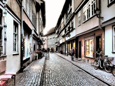 Erfurter Stadtansichten, stark verfremdet