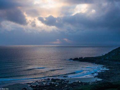 Cornwall Küste am Abend