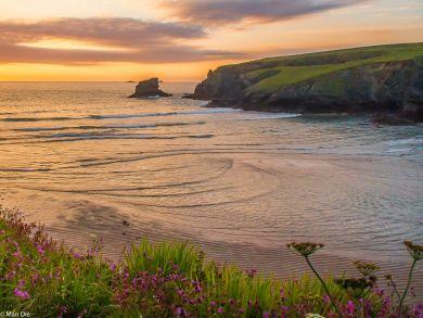 Abend an Cornwall Küste