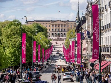 Oslo Norwegen in der Stadt