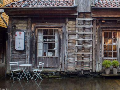 Norwegen Bergen im Regen