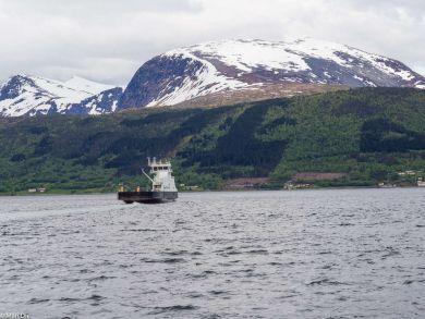 Warten auf die Fähre Norwegen