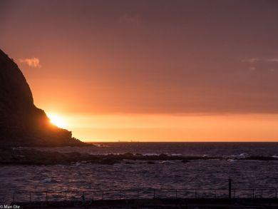 Runde Norwegen, Sonnenuntergang