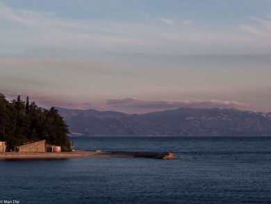 Küste bei selbe Kroatien