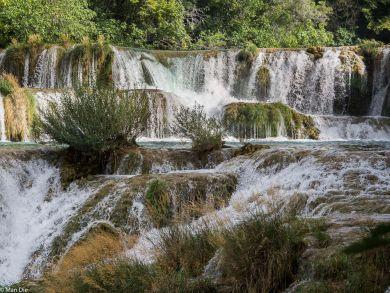 Großer Wasserfall krka Nationalpark Kroatien