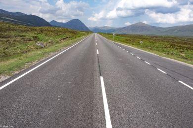 Fahrt in den highlands