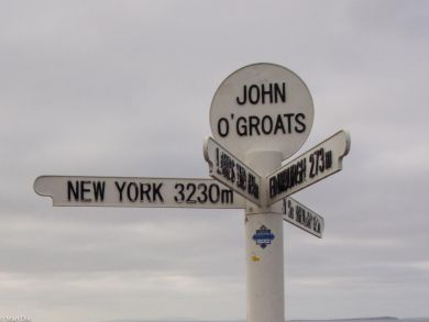 John o Groats das bekannte Schild