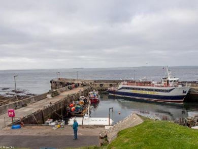 John o Groats am Hafen