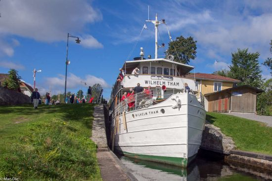 Kreuzfahrt der anderen Art: Schleuse Forsvik/Schweden