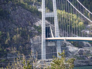 Norwegen Hardangerfjord Brücke