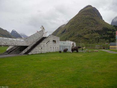 Das Gebäude des Gletschermuseums