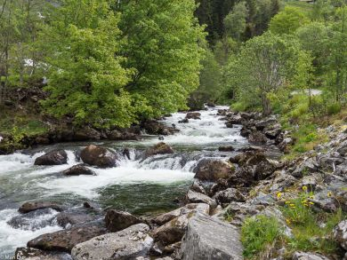 Wasserfalles in Geringer