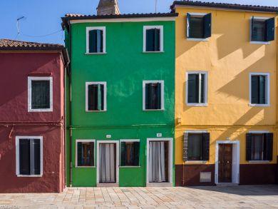 Burana bunte Häuser