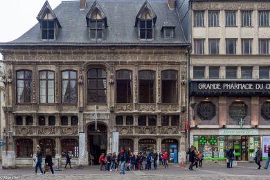 vor der Kathedrale, Rouen