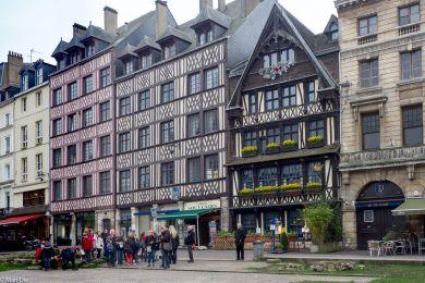 Fachwerkbauten in der Innenstadt von Rouen