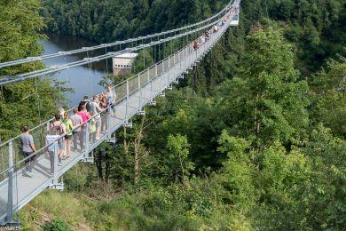 Titan-RT, Hängebrücke im Harz