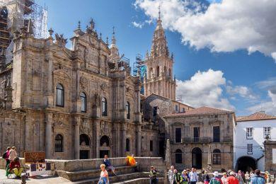 Kathedrale in Santiago de Compostela, der Altar